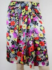 Dry-clean Only Knee-Length Floral 100% Silk Skirts for Women