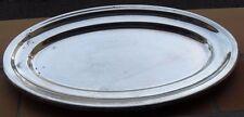 PLAT OVALE FELIX FRERES EN METAL ARGENTE 32 CM X 20 CM