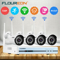 Sans fil 4CH 4*IP Caméra 1080P WLAN CCTV DVR Vidéo Sécurité Surveillance Kit P2P