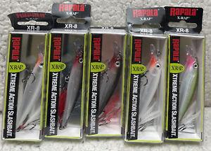 """(5) Rapala XR-8 X-Rap Jerkbait 3-1/8"""" 1/4oz Dives 3-5' Good Colors 6A9"""