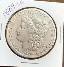 1889-CC MORGAN SILVER DOLLAR, VF DETAILS!