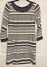 J. Crew Jules Silk Dress - Size 2 - Black Lined Striped with Front Pockets