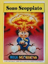 1990 GPK ADAM BOMB PREMIO DI BRUTTEZZA / SONO SCOPPIATO (OVERSIZED) ITALIAN RARE