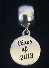 Sterling Silver Charm Class Of 2013 Dangle Round Pendant 925 IBB Graduation
