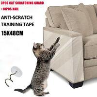 3PCS Haustier Katze Kratzschutz Matte Kratzbaum Sofa Möbel Schutz Folie 15*48cm
