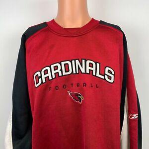 Reebok Arizona Cardinals Embroidered Heavy Sweatshirt NFL Team Football Red XL
