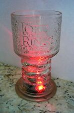New Lord of the Rings Frodo Glass Goblet Fellowship Hobbit - Lights Up Box