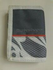 Quiksilver Grey & Cream Fabric Tri Fold Multi Compartment Wallet Purse