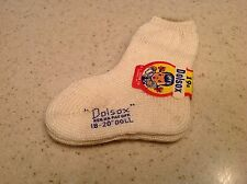"Vintage Doll Socks Will Fit Most 18-20"" Dolls Dolsox Off White New In Wrapper"