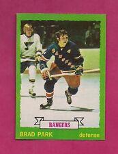 1973-74 TOPPS # 165 RANGERS BRAD PARK NRMT  CARD (INV# A630)