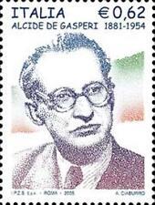 Italia 2005 50° anniversario della morte di Alcide De Gasperi  MNH