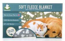 """Comfortable Pet 60"""" x 65"""" Soft Fleece Pet Blanket Gray New"""