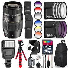 Tamron 70-300mm Lens for Nikon + Flash + Color Filter Set - 16GB Accessory Kit