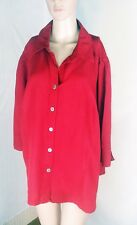 East 5th Women's Blouse Size 2X - Red - Button Front - 3/4 Length Sleeves