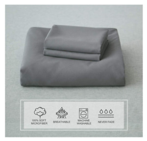 SUNNEEHOME DUVET COVER AND 2 PILLOW SHAMS SET GRAY NEW IN PACKAGE