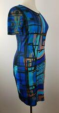 Vestido de inflexión eroke milán señora elásticos casual fiesta reversible vestido azul talla XL
