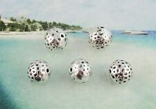 10pcs Tibetan silver dotted round spacer beads T8603