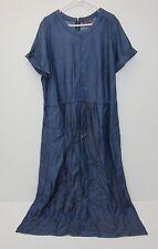 Jessica London Tencil Full Length Short Sleeve Dress - Womens Size 22 - Chambray