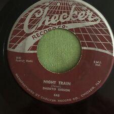 R&B 45 Daddyo Gibson -Night Train / Behind The Sun On Checker Instrumentals Soul