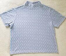 Women's Short Sleeve Turtleneck~ Size Med~ Lavender W/ Flowers~ Blair
