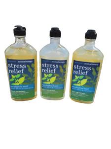 *THREE* Bath & Body Works Aromatherapy Eucalyptus Basil Body Wash Foam Bath