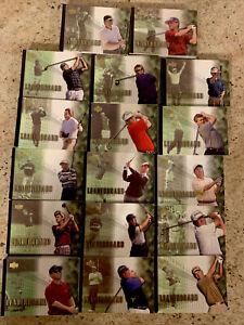 375 + LOT 2001 UPPER DECK GOLF LEADERBOARD CARDS PRICED FOR QUICK SALE PGA UD