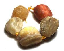 5 Rough Yellow Botswana Agate Raw Nugget Beads ~25mm K1055