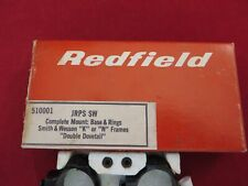 VINTAGE REDFIELD SCOPE BASE & RINGS FOR SMITH & WESSON K OR N FRAMES NEW, NOS