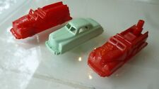"3 pieces Vintage 1950s Renwal 145 146 Fire Truck 144 car sedan 3.25"" LOT EXC++++"