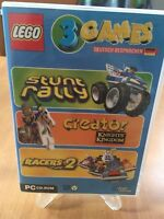 Lego 3 Games Pack (Stunt Rally / Creator Knights Kingdom / Racers  PC/ DVD-ROM