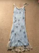 Ladies Ankle Length Silk Dress Size 14