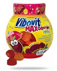 Vibovit Max Resistance 50 pieces of jelly VIBOVIT MAX ODPORNOŚĆ żelki 50 sztuk