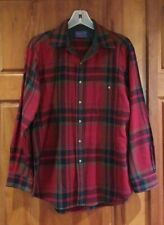 New listing Vintage Pendleton Wool Red Plaid Button Fron Shirt Men M Made in Usa