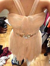 Pink glittery pre owned formal wear short dress