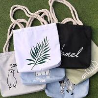 Women Canvas Shoulder Bag Casual Handbag Simple Portable Student Book Holder NEW