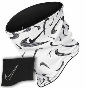 Nike Neck Warmer Scarf Youth Boys Black White Reversible Snood Gaiter New