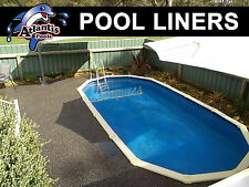 POOL LINER 8.2m x 4.6m for Above Ground (27x15'') Dark Blue Oval
