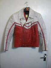 VINTAGE 80'S KETT DISTRESSED LEATHER MOTORCYCLE JACKET SIZE XS