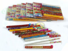 1/2/4/6/8/10 SET Chinese Wooden (each set = 10 Pairs) Chopsticks with Silk Cases