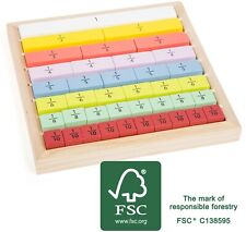 Wooden Fractions Board Home Learning