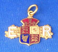 A rare King Edward VII Royal Arms enamelled shield fob medal or pendant
