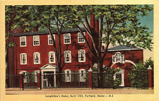 Portland, Maine, Longfellows Home - Postcard (A19)