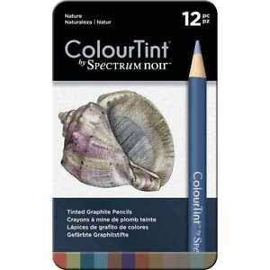 Spectrum Noir Colour Tint Nature Pack of 12 Tinted Graphite Pencils