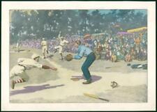 Antica STAMPA-partita di baseball giocatori lanciatore fielder Folla (151)