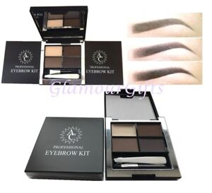 A  Professional Eyebrow Powders Quad Colour Mixing Palette wax & Tweezers sealed