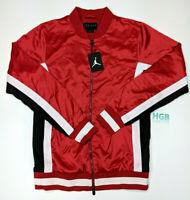 NEW JORDAN SATIN JACKET FULL ZIP BRED RED BLACK AQ0938-687 MEN MULTI SIZE