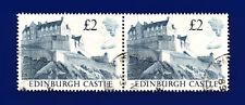 1988 SG1412 £2 Edinburgh Castle UK3 Pair Fine Used ctlh
