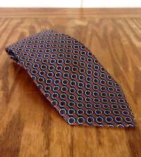 "NWOT Richel Royal Blue Geometric Men's Silk Tie Horse Bit Equestrian 59"" 3.75"""