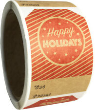 """Natural Kraft Reverse Red Christmas Holiday Gift Tags 