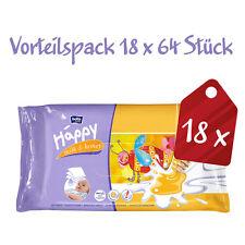 Bella Baby Happy Feuchttücher Milch & Honig, 1152 Tücher (18 x 64 Stück)